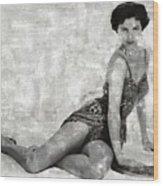 Cyd Charisse Hollywood Actress And Dancer Wood Print