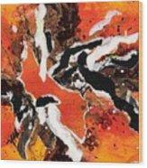 Cyhm Orange Wood Print