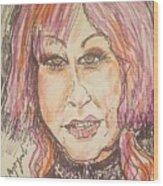 Cyndi Lauper Wood Print