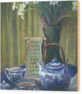 Cyndis Tea Time Wood Print