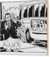 Cynthia Nixon For Governor Wood Print