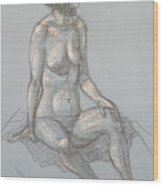 Cynthia Seated From Side Wood Print