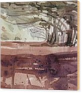 Cypress At Moss Beach Wood Print