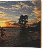 Cypress Bend Resort Sunset Wood Print