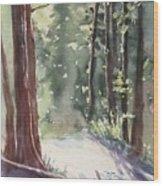 Cypress Mt. Wood Print