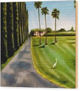 Cypress Palms Wood Print