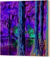 Cypress Trees Wood Print