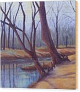Cypress Trees Wood Print