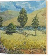 Cypresses At Lydenburg Wood Print