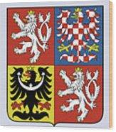 Czech Republic Coat Of Arms Wood Print