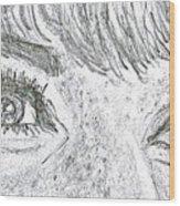 D D Eyes Wood Print by Carol Wisniewski
