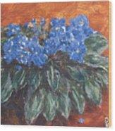 D Violets Wood Print