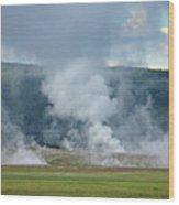 D09125 Steam Vents Near Midway Geyser Basin Wood Print