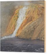 D09126 Outlet Of Midway Geyser Basin Wood Print