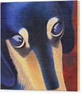 Dachshund - Oscar The Shelter Dog Wood Print