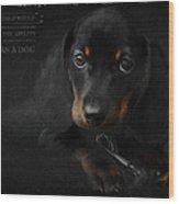 Dachshund - Puppy Love Wood Print