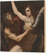 Daedalus And Icarus Wood Print
