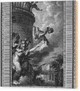 Daedalus And Perdix Wood Print