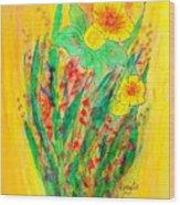 Daffodiles  Wood Print