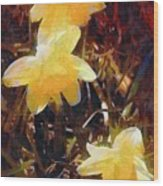 Daffs Gone Goth Wood Print