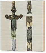 Dagger And Sheath Wood Print