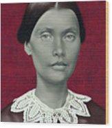 Daguerreotype Lady Detail Wood Print