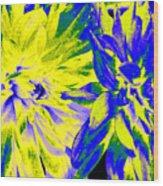 Dahlia Decor Wood Print