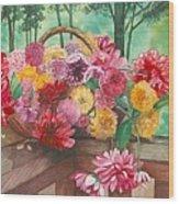 Dahlia Harvest Wood Print