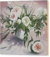 Dahlia Vase  Wood Print