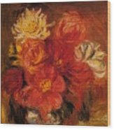 Dahlias Wood Print