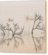 Dai Ninh Lake, Vietname Wood Print