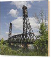 Dain City Railroad Bridge Wood Print
