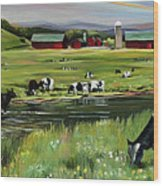 Dairy Farm Dream Wood Print