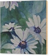 Daisies In The Blue Wood Print