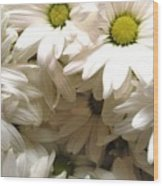 Daisies Make Me Smile Wood Print