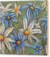 Daisies Pastel Wood Print