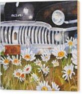 Daisy Desoto Wood Print by Suzy Pal Powell