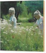 Daisy Field of Innocents Wood Print