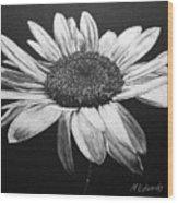 Daisy I Wood Print by Marna Edwards Flavell
