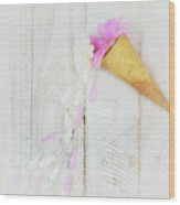 Daisy Ice Cream Cone Wood Print