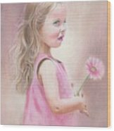 Daisy Wood Print by Karen Hull