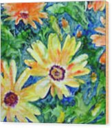 Daisy May Wood Print