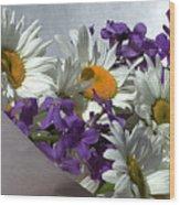 Daisy Mix Wood Print