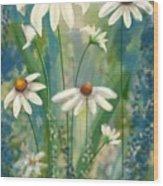 Daisy's Blues.  Wood Print