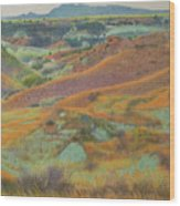 Dakota October Wood Print