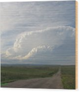 Dakota Prairie Sky Wood Print