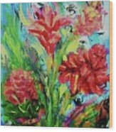 Dala Flower The Flower Of The Ampawa River Maket Wood Print