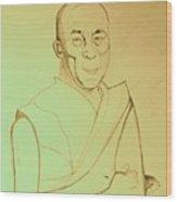 Dalai Lama. Wood Print