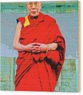 Dalai Lama Wood Print