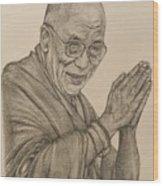 Dalai Lama Tenzin Gyatso Wood Print
